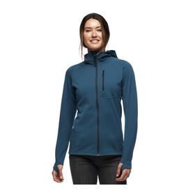 Black Diamond Coefficient Fleece hættetrøje Damer, blå